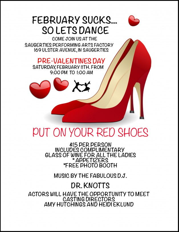 Saturday Feb. 11 Dance sponsored by HUDSON VALLEY CASTING